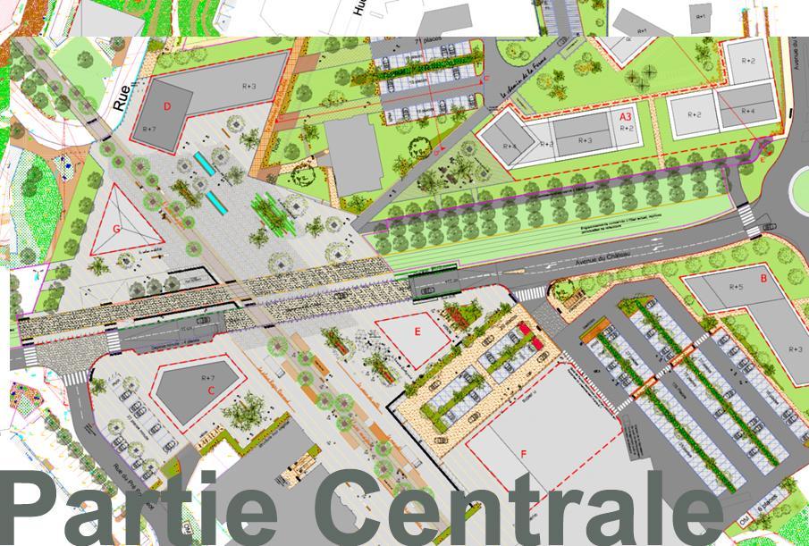 Coeur de ville aménagements partie centrale